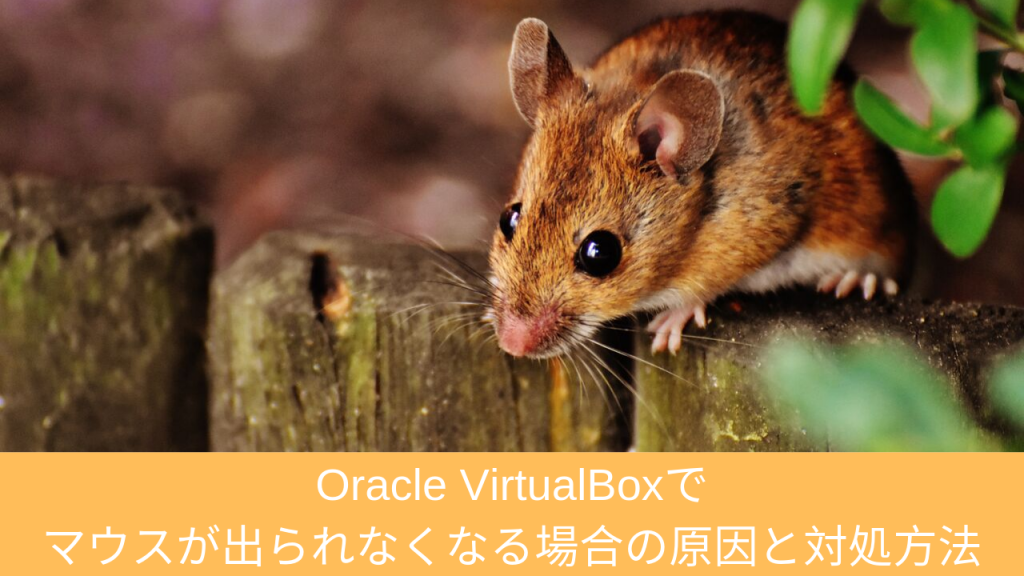 Oracle VirtualBoxでマウスが出られなくなる場合の原因と対処方法 | 仮想マシンソフト