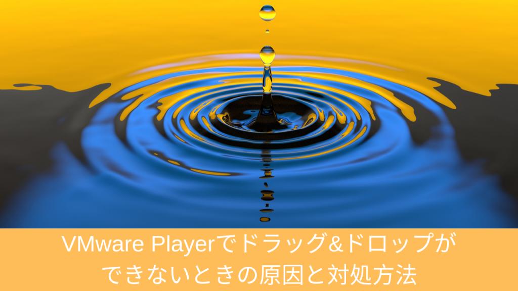 VMware Playerでドラッグ&ドロップができないときの原因と対処方法 | 仮想マシンソフト