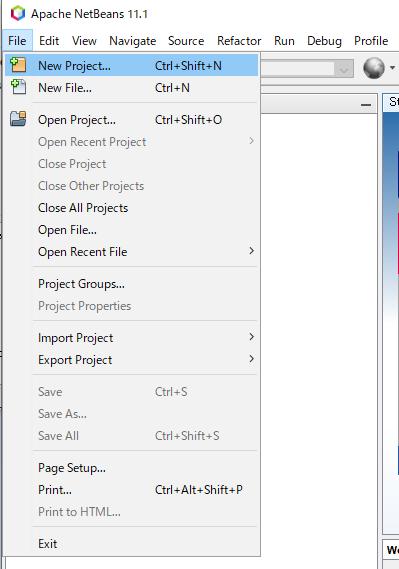 NetBeansでプロジェクトを作成する